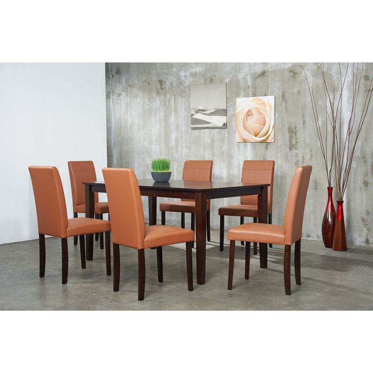 Add this to your dining room to bring the excitement back into entertaining. The oak table is beautifully complemented by the matching finish dining chairs for a contemporary setting that will draw praise.