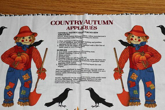 No Sew Appliques for Making Scarecrows  Pumpkins  Indian
