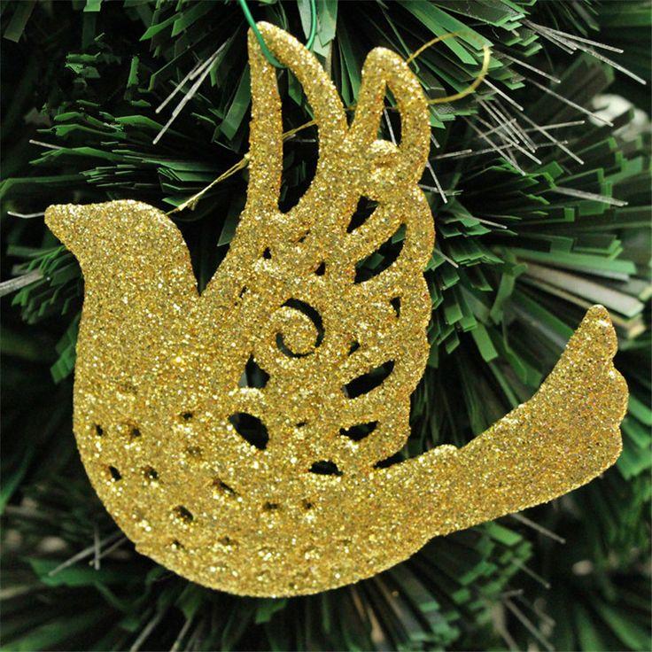Hot sell Ranton size 10 x 10cm Christmas tree decoration supplies peace pigeon Christmas gift #ChristmasDecor