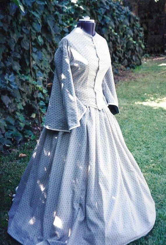 Viktorianische Bürgerkrieg Tag Kleid Baumwolle von ItsNotPajamas