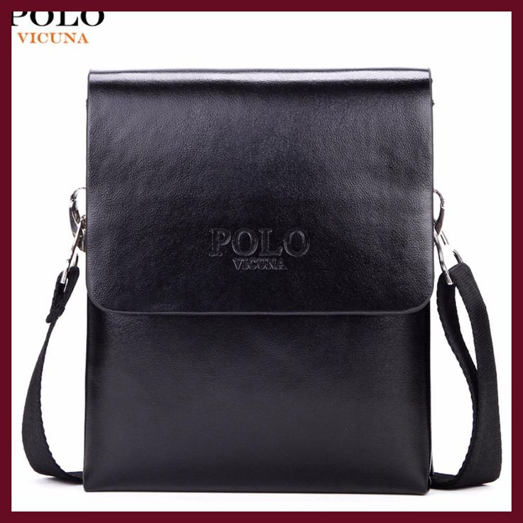 73d2c2e93b46 VICUNA POLO Hot Sell Brand Solid Double Pocket Soft Leather Men Messenger  Bag Small 2 Layer