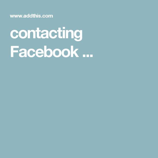 contacting Facebook ...