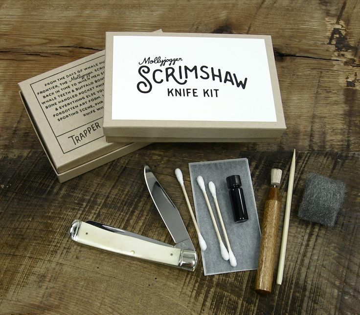 Since the 1700s, scrimshaw has been an American art form birthed from the whaling industry. Make Captain Ahab proud and make yourself something unique in the process. -One Natural Bone Handled Pocket Knife (Imported)-Harden Steel Scribe-1/2 Dram India Ink-Bamboo Tracing Tool-Carbon Paper-Fine Steel Wool-Ink Applicators-Step by Step Instructions and sample graphics