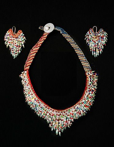 voulakarampatzaki KALIPSO'S OFFER - Necklace & earrings, 2004
