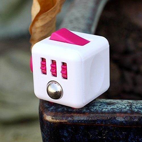 Fidget Cube Creative 6 Sides Dice Mini Magic Cube Anti anxiety and decompression Toy (White Pink). #Fidget #Cube #Creative #Sides #Dice #Mini #Magic #Anti #anxiety #decompression #(White #Pink)