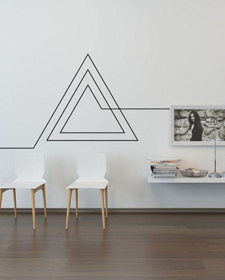 masking tape 12 id es pour d corer un mur blanc masking tape college apartments and salons. Black Bedroom Furniture Sets. Home Design Ideas