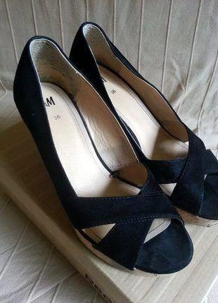 Kup mój przedmiot na #vintedpl http://www.vinted.pl/damskie-obuwie/sandaly/14506080-czarne-koturny-marki-hm
