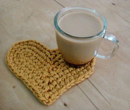 PDF PATTERN Crochet Heart Coaster