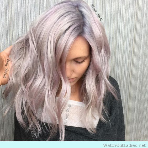 Amazing pearl blonde hair color