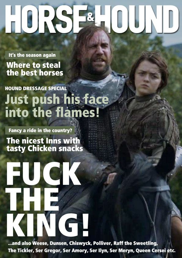 #GameofThrones as Magazines