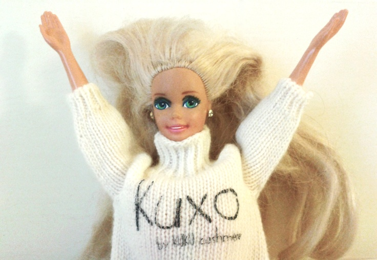 Barbie wearing Kuxo' www.kuxo.it