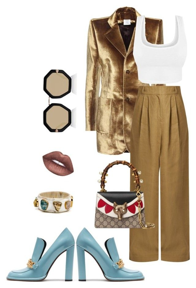 """Velvety Friday"" by trend-anonymous on Polyvore featuring Vetements, TIBI, Mulberry, Lime Crime, Karen Walker, Gucci, velvet, polyvoreeditorial and fall2017"