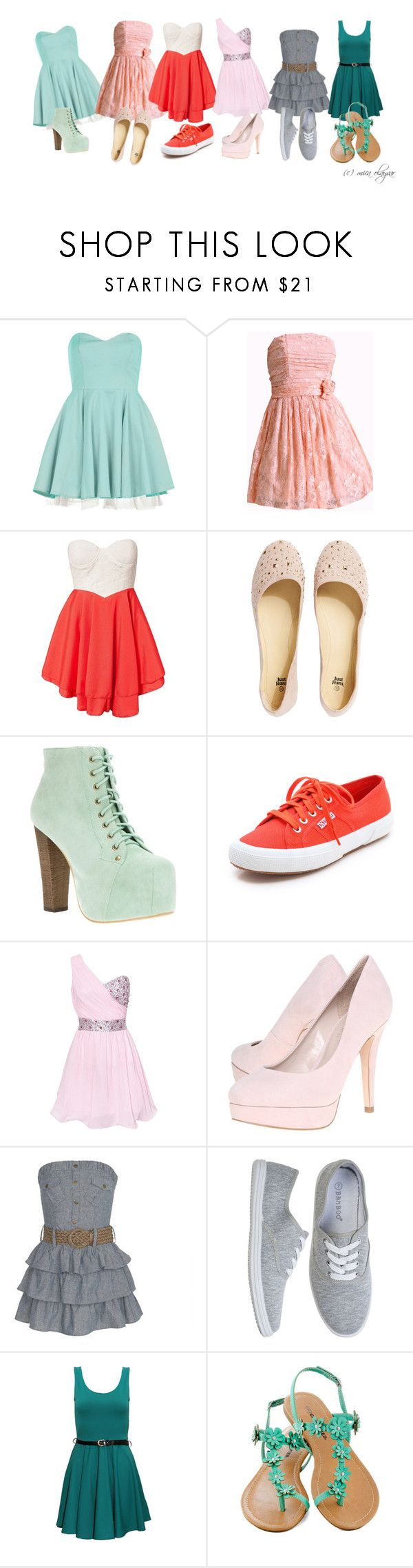 #1 by micaolayvar on Polyvore featuring Dorothy Perkins, Club L, Superga, Carvela and Jeffrey Campbell