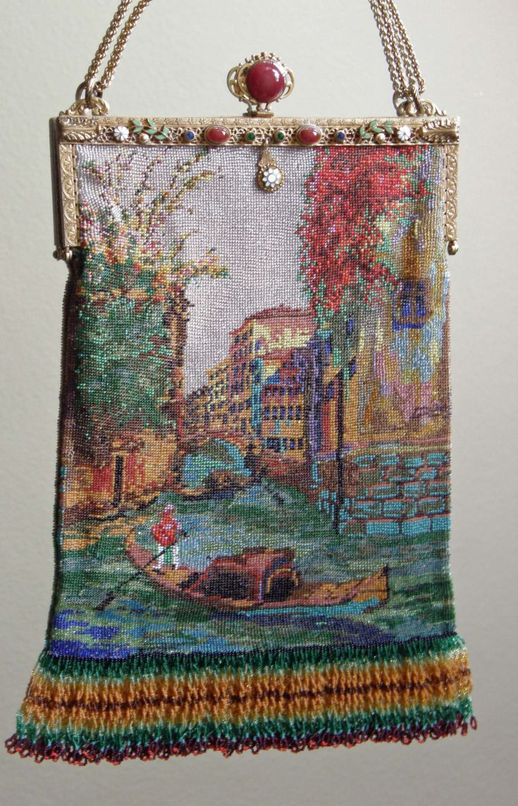 Micro beaded purse Venice canal