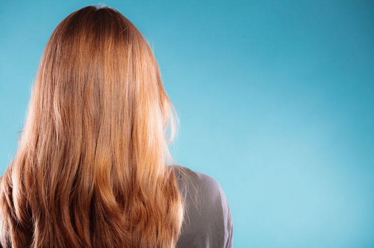 Schöne glänzende Haare