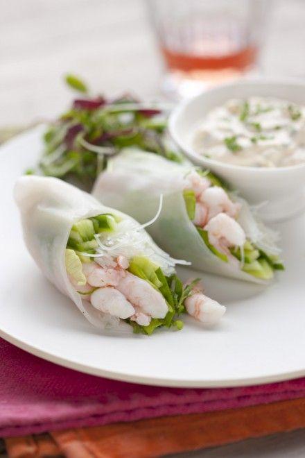 Dans ces rouleaux, les crevettes ne sont pas une simple garniture mais l'ingrédient-vedette.