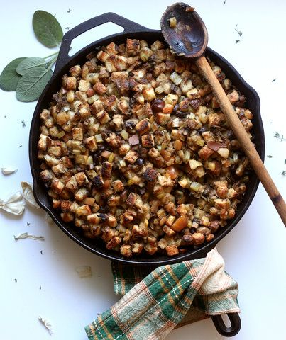 How to Make The World's Best Vegetarian Stuffing | You don't need sausage to make this Thanksgiving side dish shine.
