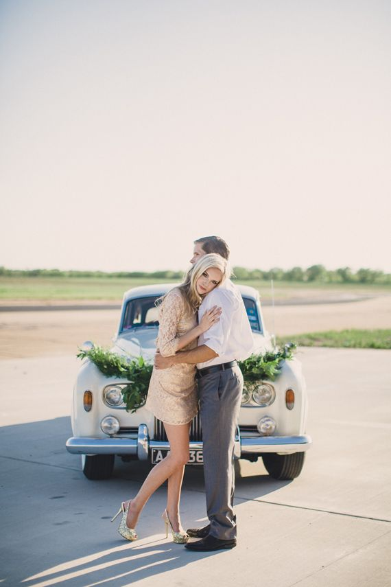 Airplane hangar wedding inspiration on 100 Layer Cake | Floral: The Southern Table, Floral + Event Design | Photo: Whitney Bennett Photography | Planning: Southern Social | Read more - http://www.100layercake.com/blog/?p=75974