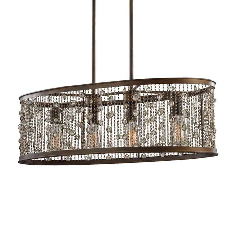 Feiss Colorado Springs Chestnut Bronze Four Light 16 Inch Wide Chandelier On SALE