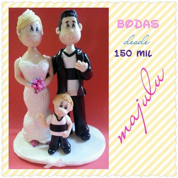 Novios para torta de bodas