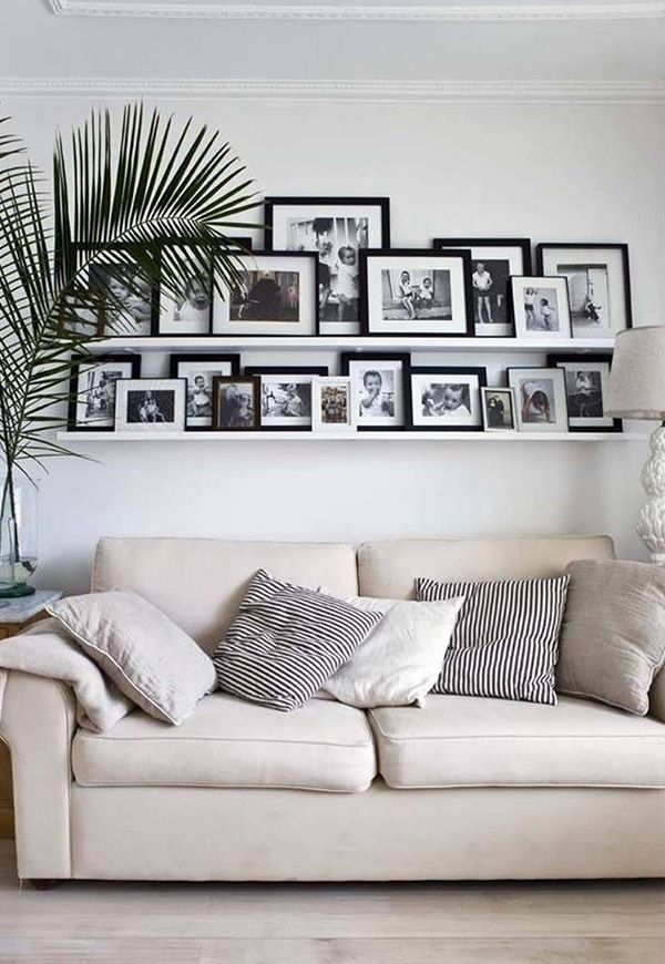 White Ledge Display Decor Photo Wall Gallery Home And Living