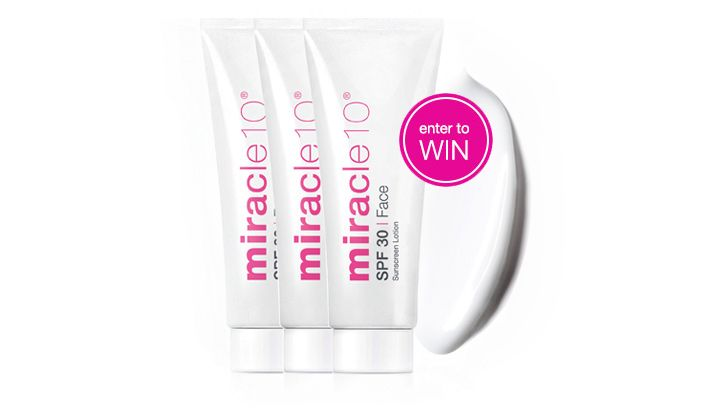 Enter for your chance to win 1 of 10 Miracle 10 Sunscreens we're giving away!! #giveaway #beautygiveaway #contest #skincare #cosmeceutical #Canadian
