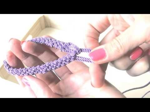 Manualidades DIY - Pulsera con nudos y colgantes ( Macrame ) - YouTube