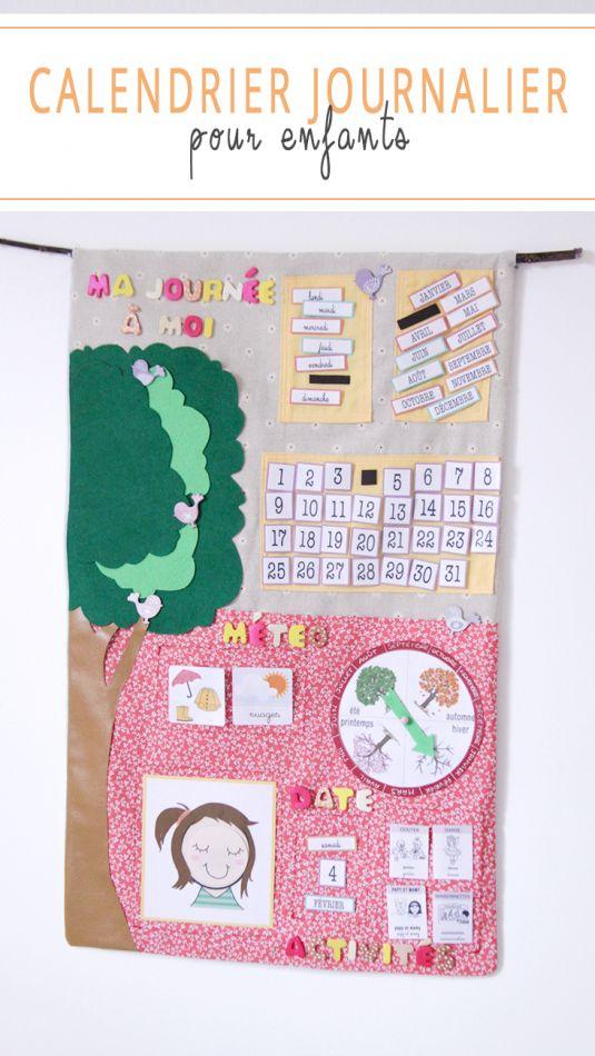 CALENDRIER POUR ENFANTS EN TISSU