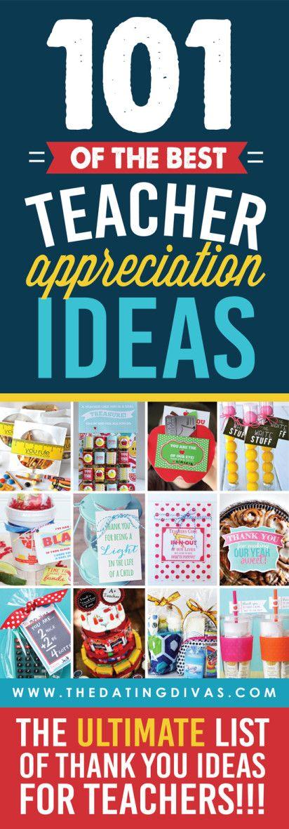 Teacher Appreciation Week - 101 Teacher Appreciation Ideas