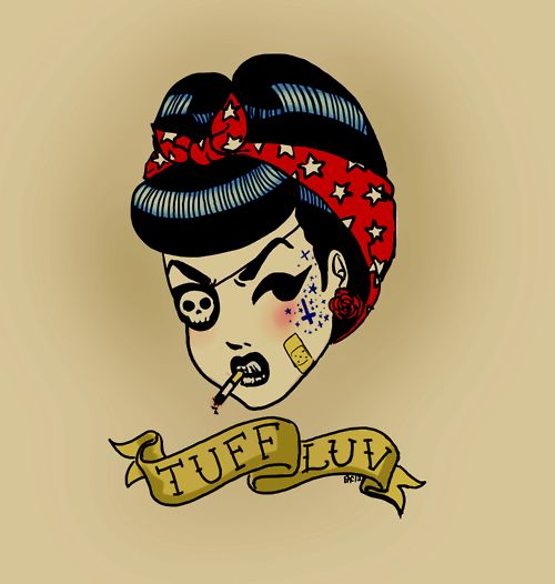tattoo pin up rockabilly desing tuuf luv murderannabel