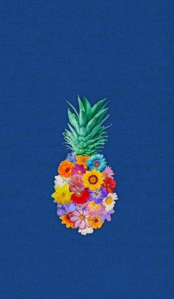 おしゃれ!!パイナップル&花柄iPhone壁紙 iPhone 5/5S 6/6S PLUS SE Wallpaper Background                                                                                                                                                     もっと見る