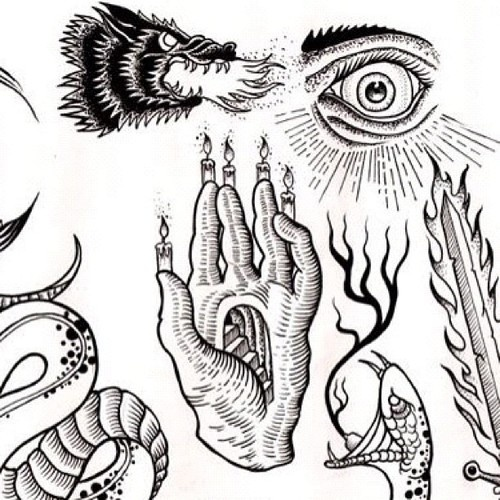 The gallery for --> Occult Tattoo Flash