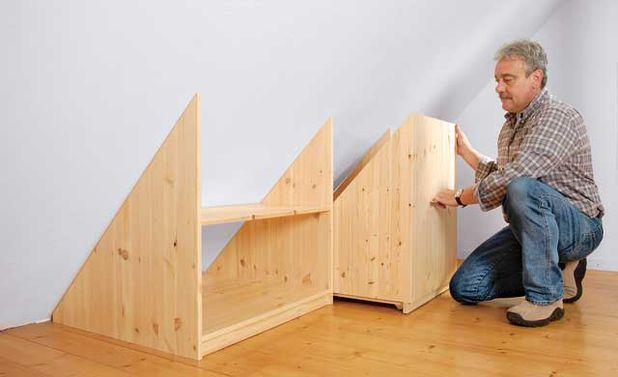 Drempelschrank Möbel Für Dachschrägen Dachboden