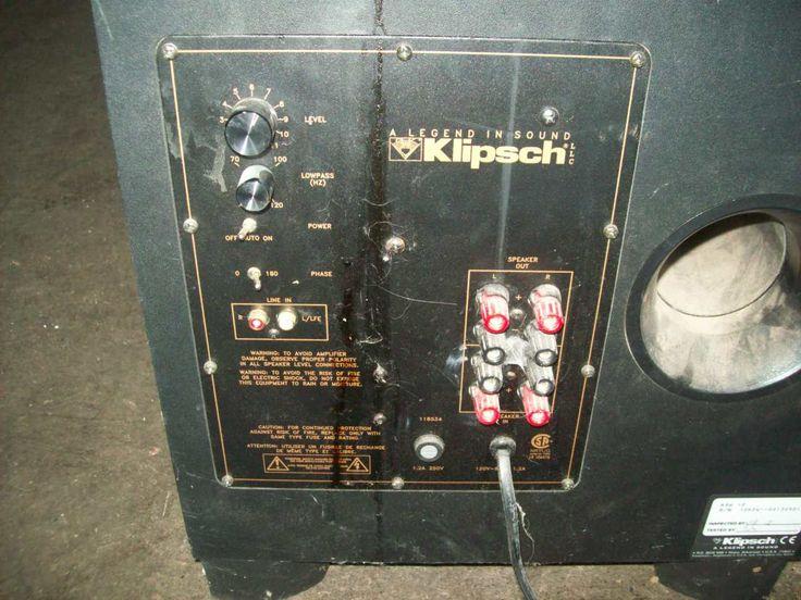 Klipsch speaker system surround sound w amplifier 5189