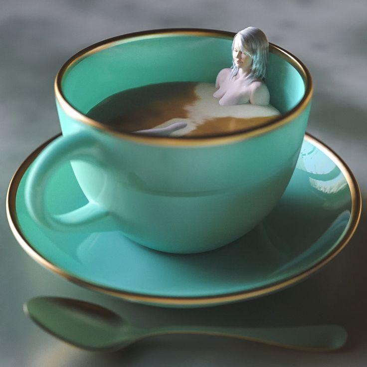 Картинка бирюзового чая