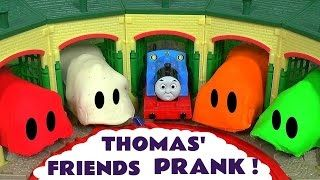 Thomas and Friends Toy Trains Play Doh Stop Motion Prank Guessing Game Fun Kids Video ToyTrains4u - YouTube