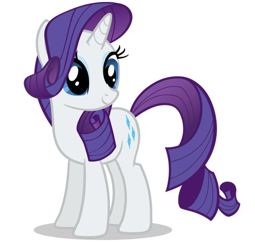 Rarity, the color scheme for the wedding (purple, turquoiseish, and white/silver)