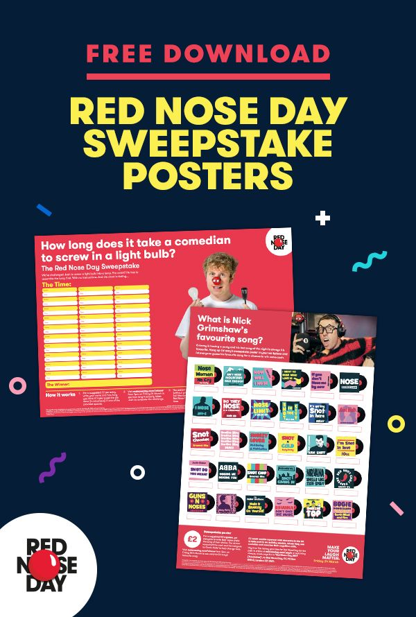 Great for a spot of on-the-side fundraising at work, our sweepstake poster is a quick and easy way to raise an extra £30.