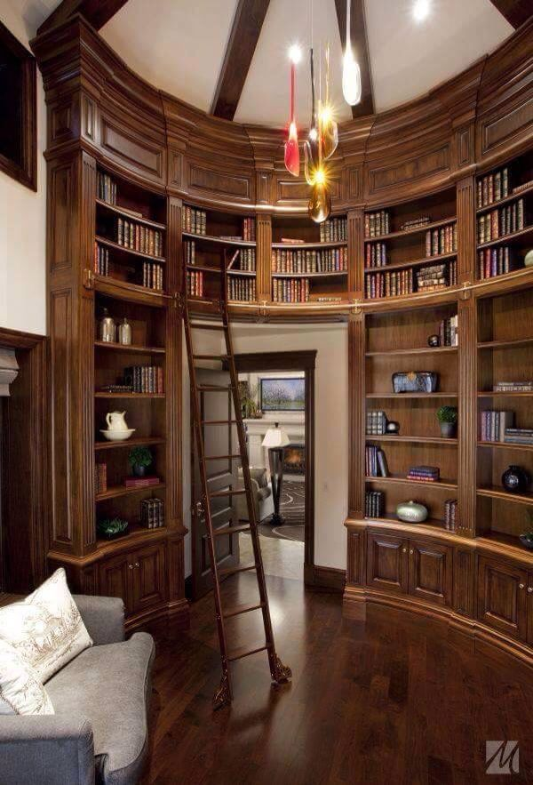Interior Designs, Marvellous Design A Home Library With Custome Size Book  Shelves With Shelving Gray Sofa Wooden Floor Hanging Bulb Lamp Wooden  Ceiling ...