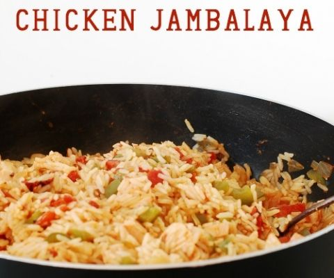 Quick and Easy Skillet Chicken Jambalaya