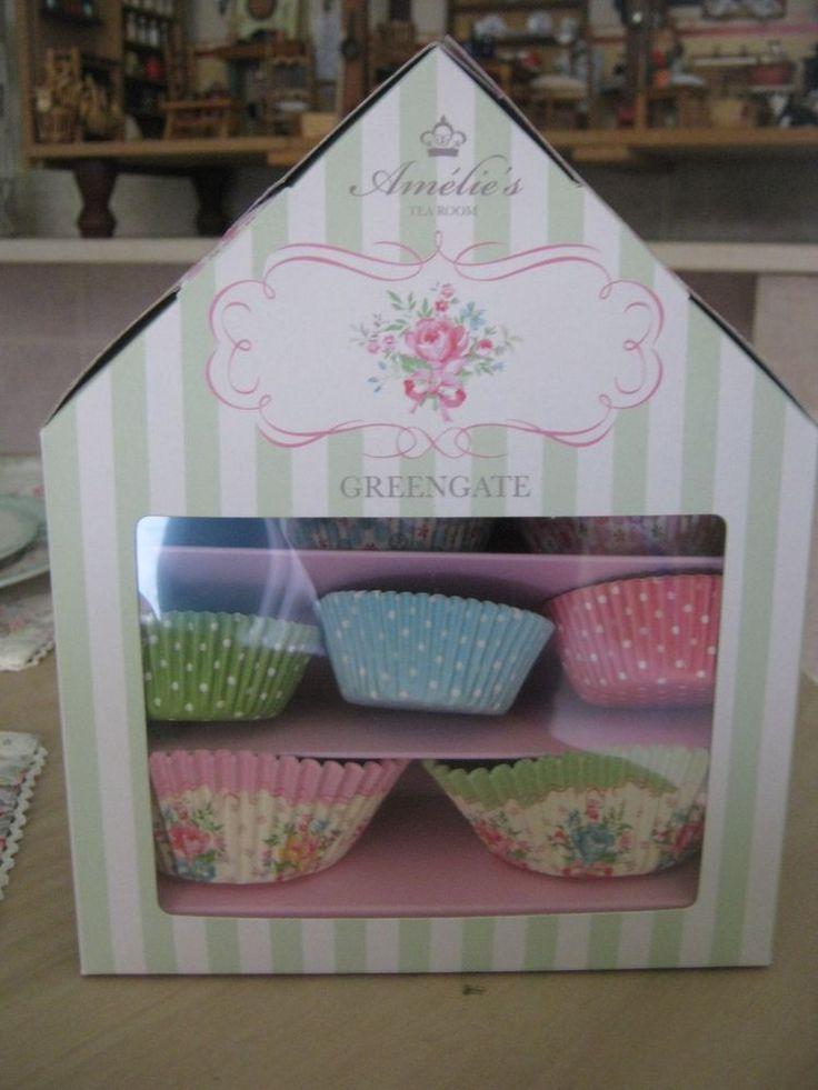 Greengate casette con pirottini per muffin e cupcakes Cupcakes house amelie