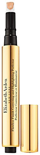 (Product review for Elizabeth Arden Flawless Finish Correcting and Highlighting Perfector, Peach, 0.06 oz.). This luxuriously lightweight concealer pen is an instant pick-me-up that immediately moisturizes, erases signs of fatigue and restores skin to a radiant and rested glow. With one sweep, flawless finish correcting and highlighting perfector masks imperfections from dark circles and shadows to...