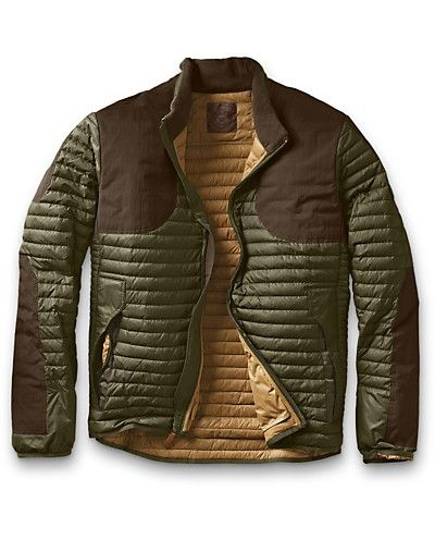 A Field & Stream Best of the Best: 2012 Hunting Gear Award Winner. Originally designed for mountaineers...this jacket was refined for hunters with the addition of a fleece-lined collar, a water-repellant coating, and durable Cordura overlays. The stretch panels flex when you do, whether mounting a rifle or scaling cliffs.