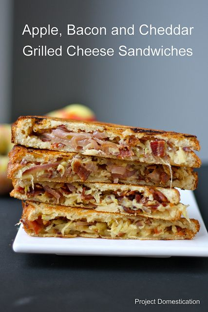 Apple and Bacon Grilled Cheese Sandwiches