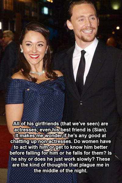 Titillating Tom Tales. This is a good question. Also, is Sian just his best friend or his newest girlfriend? Mer.