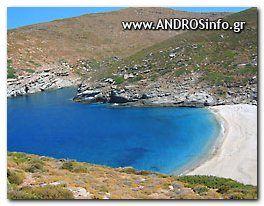 Andros παραλία Λεύκα - Lefka Andros Beach