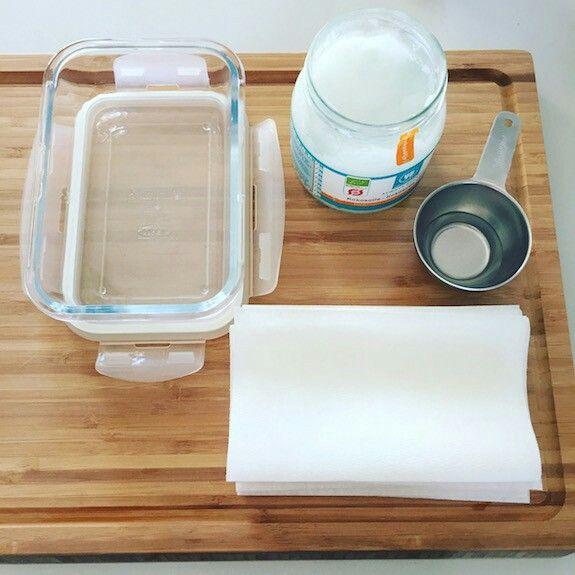 DIY zero waste giftfria baby wipes med kokosolja!