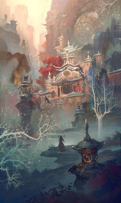 As ilustrações de fantasia e ficção científica de Gao ZhingPing