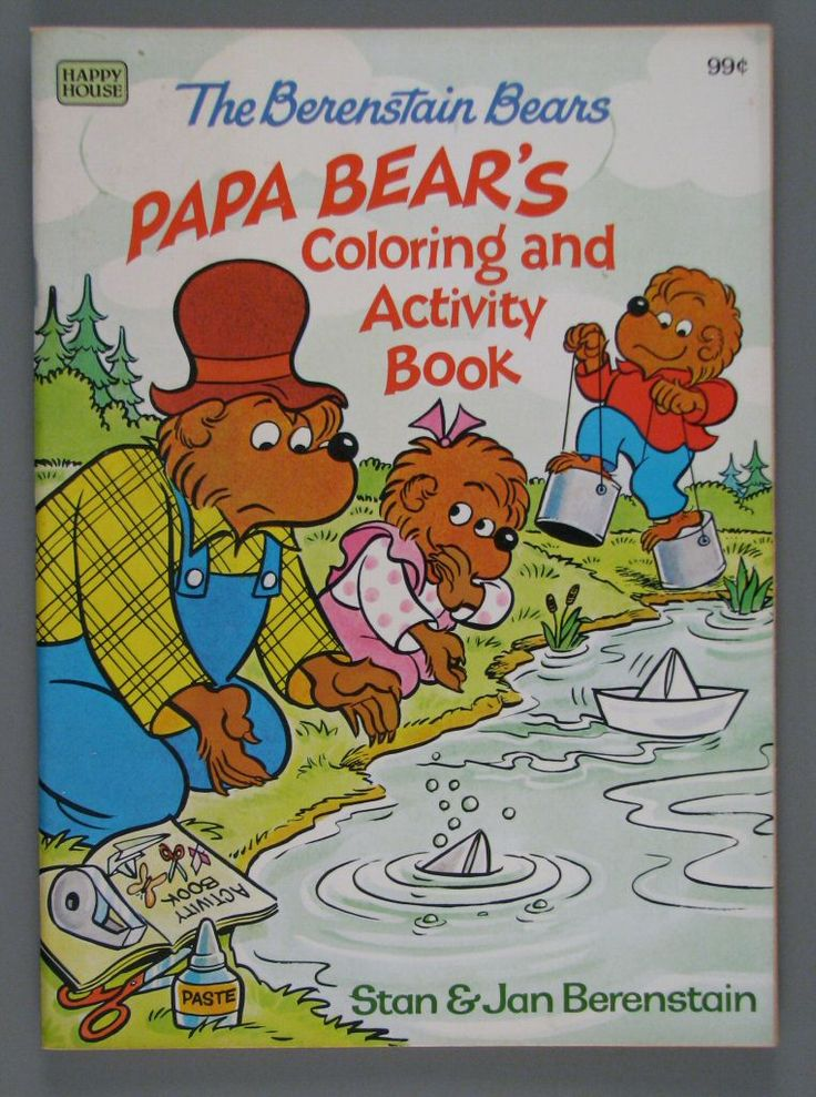 1099079 papa bears coloring and activity book coloring book creativity toys toys - Berenstain Bears Coloring Book