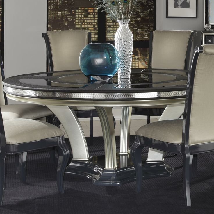 Hollywood Swank Round Dining Table by Aico Amini Innovation